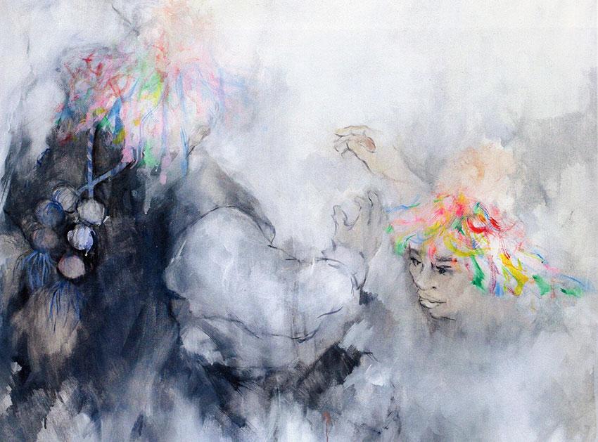 Fiesta 1 by Chiapas artist Akio Hanafuji.
