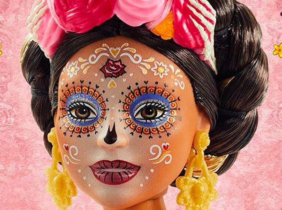 The 2020 version of the Day of the Dead Barbie doll.