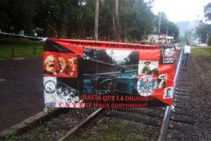 Railway blockades continue in Michoacán this week.