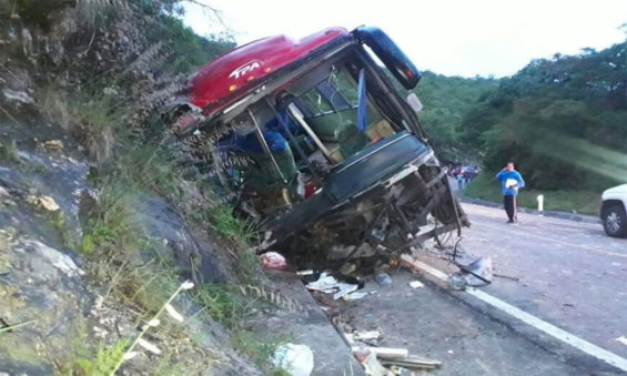 Monday morning's accident in Chiapas.
