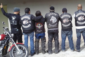 Members of motorcycle clubs from Saltillo, Coahuila, and Monterrey, Nuevo León.