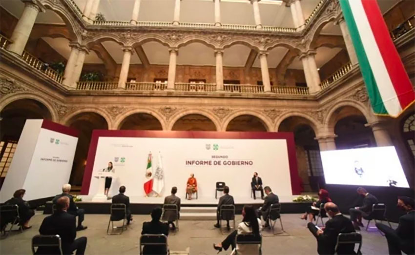 A select group of people attended the mayor's presentation in Mexico City Thursday.
