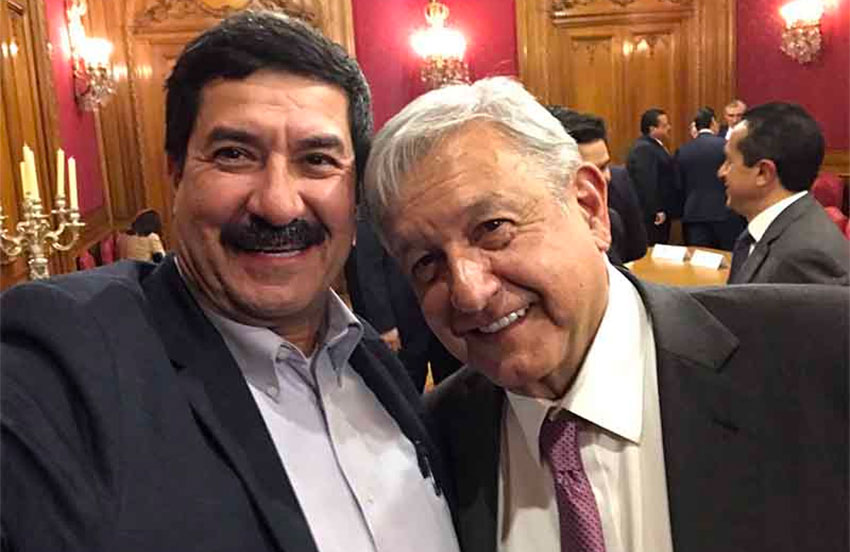 Corral, left, and López Obrador: the relationship has soured since this photo was taken.