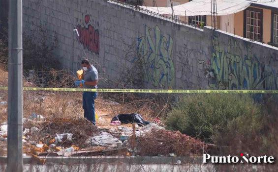 An investigator at the crime scene in Tijuana.