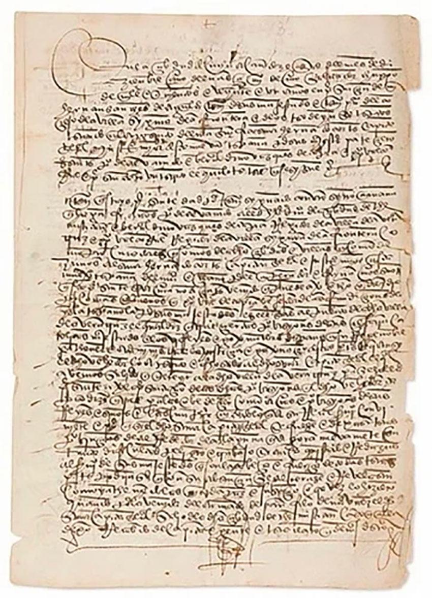 The stolen document linked to Hernán Cortés.
