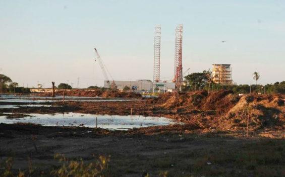 The Dos Bocas refinery under construction in Tabasco.