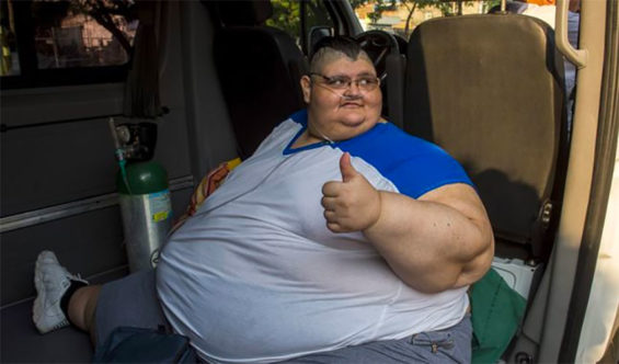 Franco weighed 595 kilos in 2016, breaking a Guinness record.