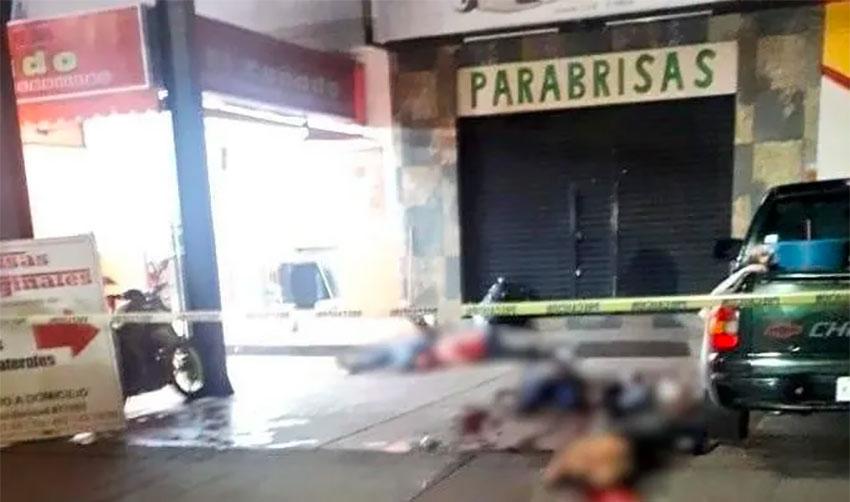 The murder scene Tuesday in Irapuato.
