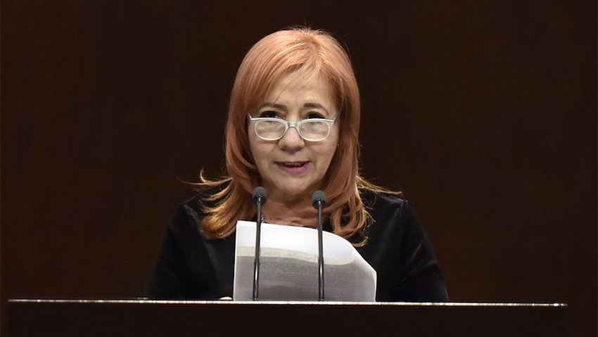 Rights commission chief Rosario Piedra.