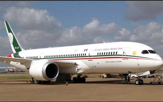 The presidential plane, a Boeing Dreamliner, is still up for sale.