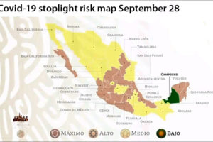 Much of Mexico is now painted yellow on the federal government's risk assessment map.
