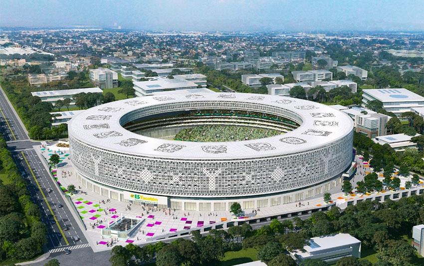 The environmentally friendly, solar-powered, state-of-the-art stadium