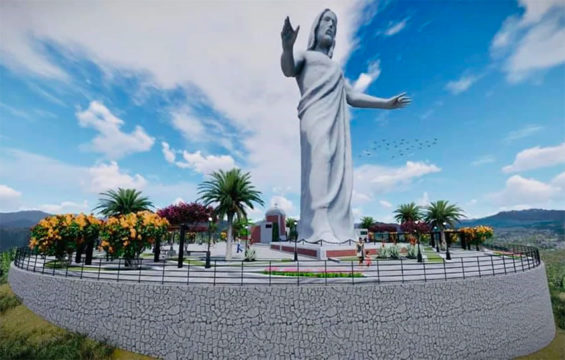 The statue and esplanade to be built on a hill in Tabasco.