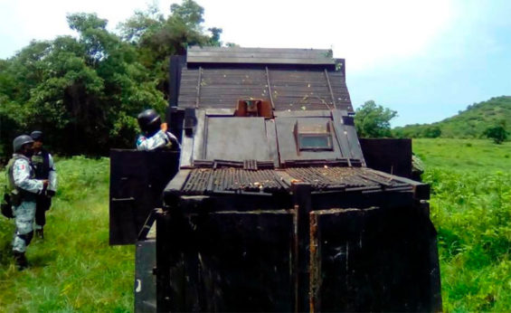 The latest narco tank discovered by Mexican authorities.