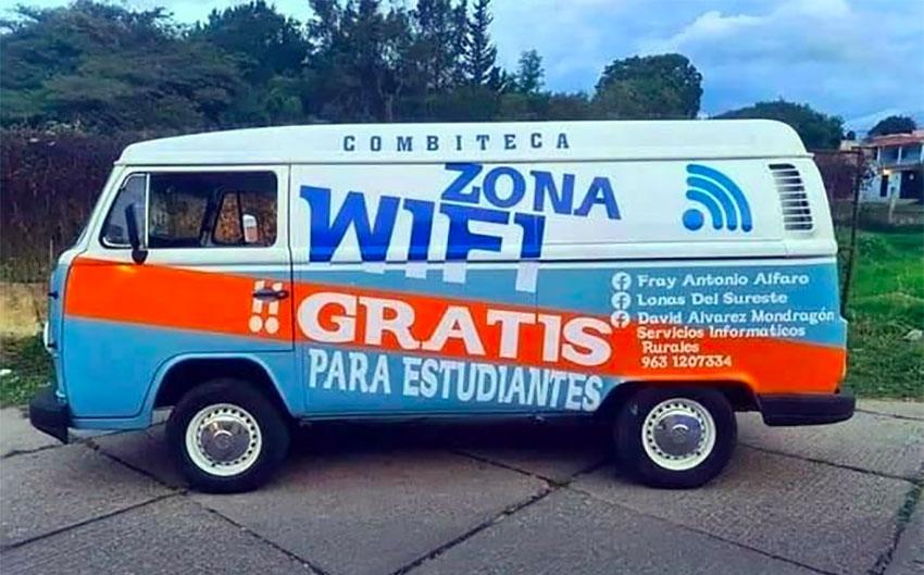 Antonio Alfaro's free Wi-Fi service for students.