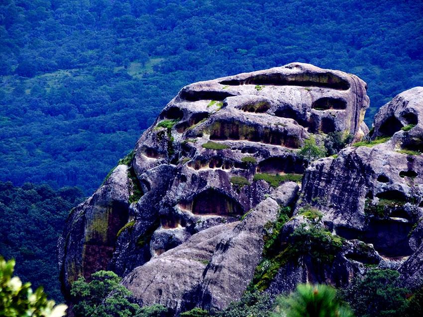 The Piedra Agujerada or Holey Rock is emblematic of Sierra Mazati.