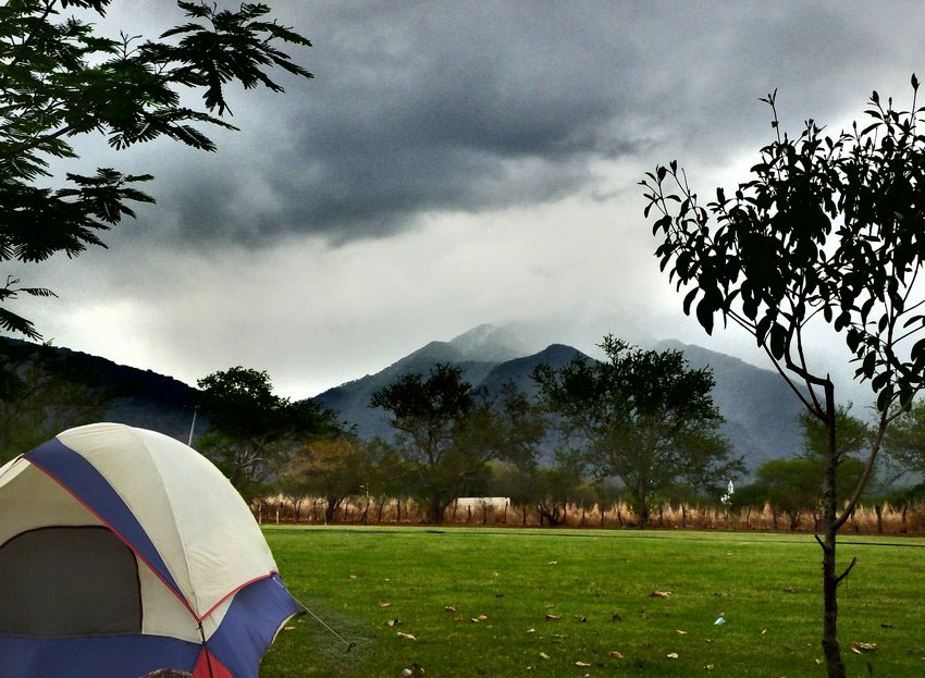 The view from El Manto's spacious campground.