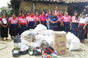 Fundraising by Los Amigos del Arte Popular in the U.S. bought US $1,400 worth of corn, beans and some basics