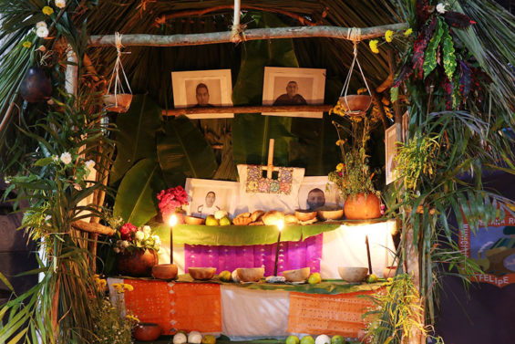 A Maya altar on display at Pixan, Festival of the Souls, in Felipe Carrillo Puerto, Quintana Roo.