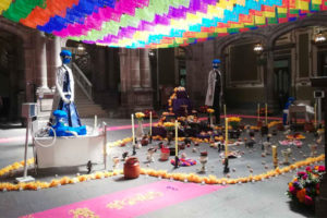 The earlier version of Puebla's altar, dubbed 'the altar of terror.'