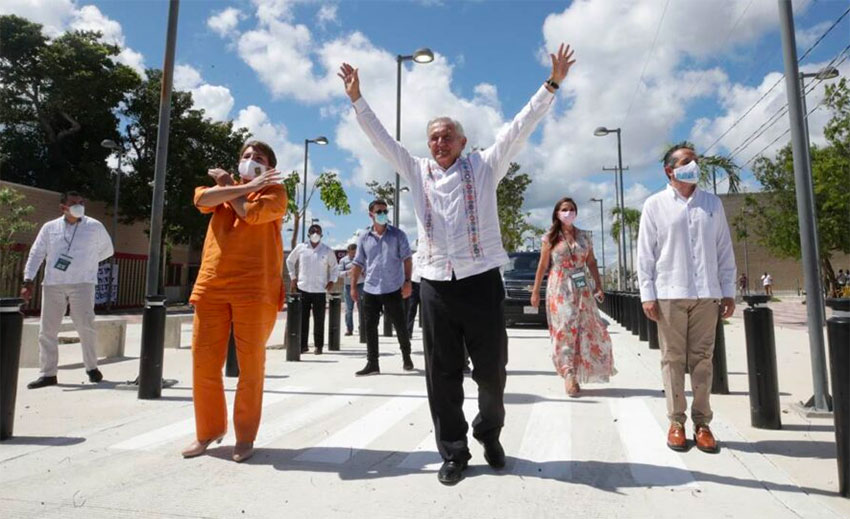López Obrador in Quintana Roo on the weekend