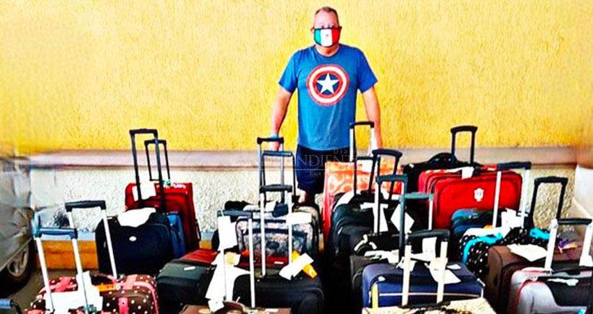 Bryan Shaul y su 'exceso de equipaje'.