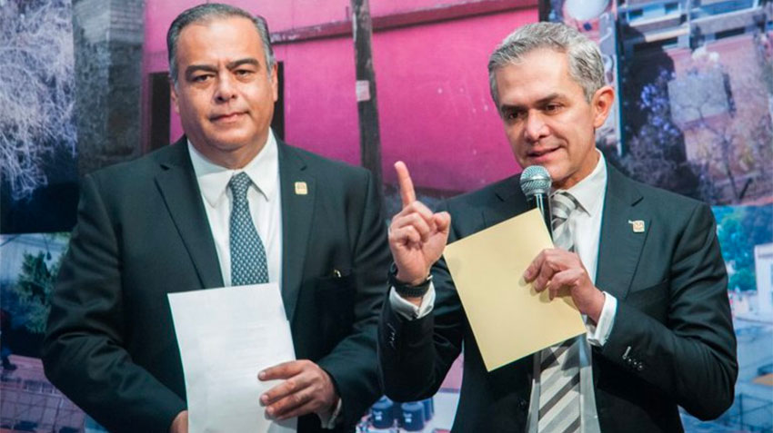 Collins and former mayor Mancera.