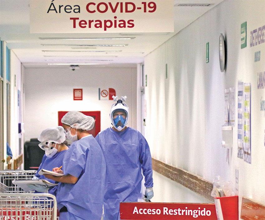 A Covid ward in a Mexico City hospital.