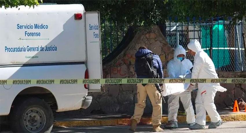 A weekend crime scene in Celaya.