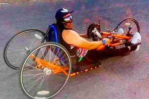 Paracyclist González was to hit the road Saturday.