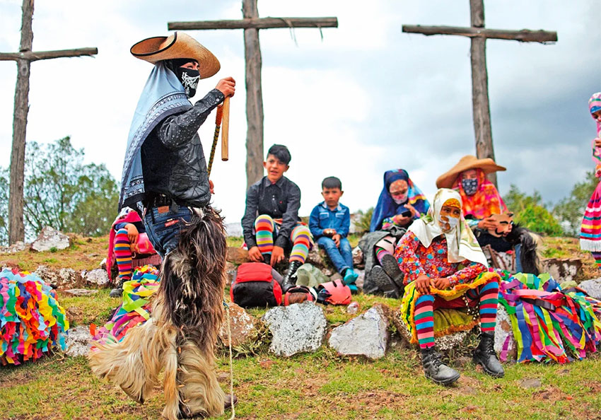 Dance of the Knives is performed in a community near Toluca de Guadalupe.