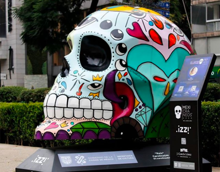 The Mexicráneos will be on display on Paseo de la Reforma.