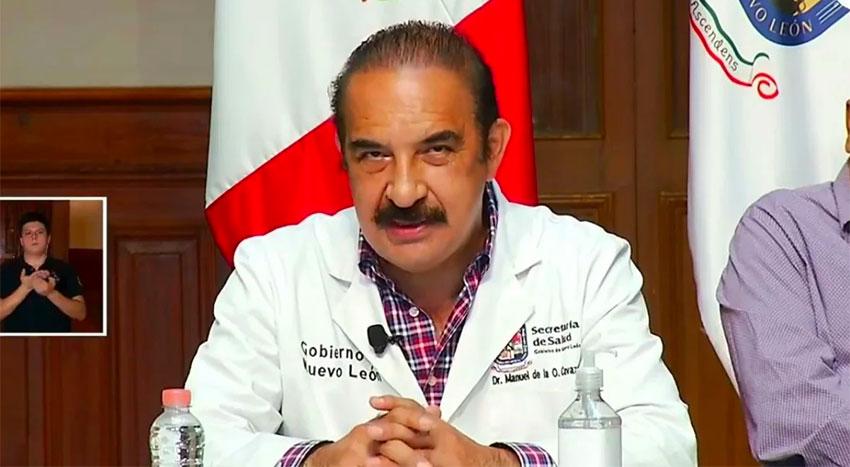 Nuevo León Health Minister Manuel de la O Cavazos.
