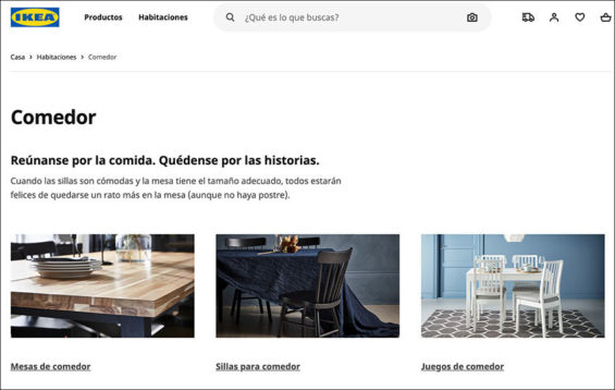 Ikea's website went live on Monday.