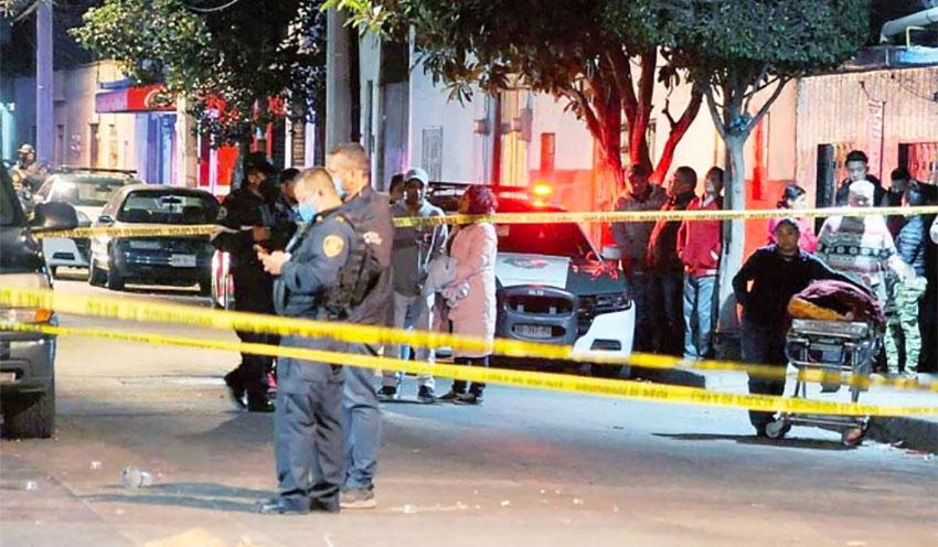 Saturday's crime scene in Azcapotzalco.