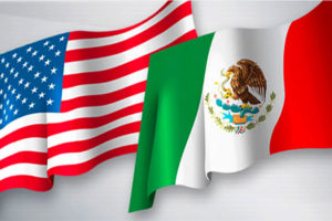 mexican us flags