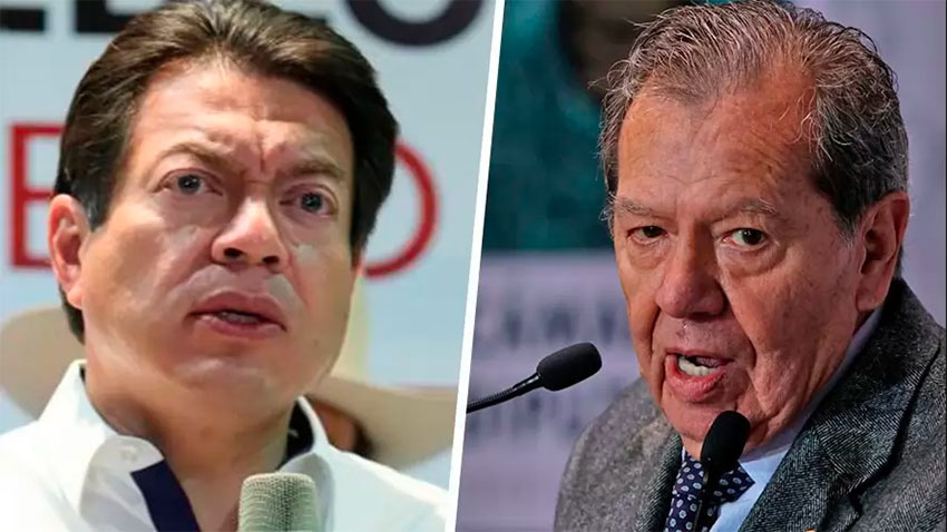Delgado, left, and Muñoz are vying for the Morena leadership.