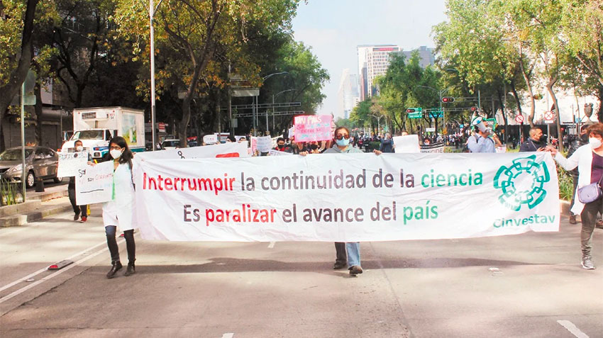One of many protests against the government plan