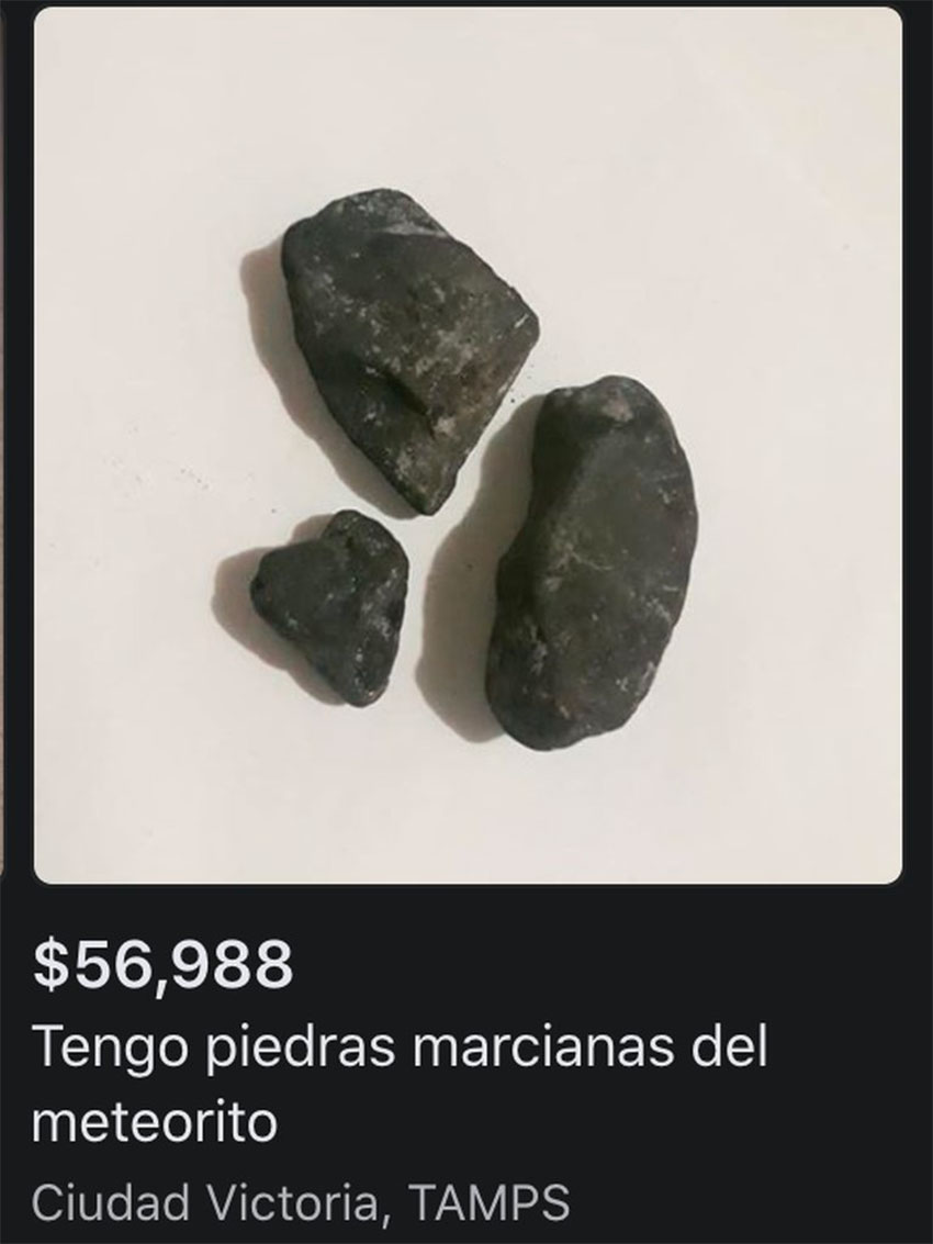Meteorite rocks for sale.