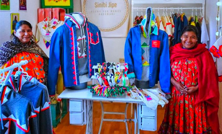 Rarámuri artisans and the products they make at the microbusiness in Chihuahua.
