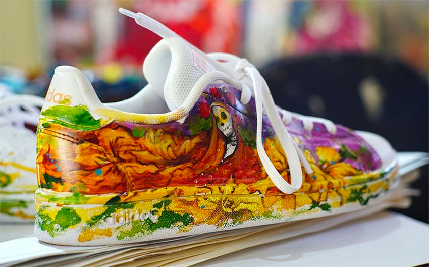 Artist Doris Arellano's colorful sneakers.