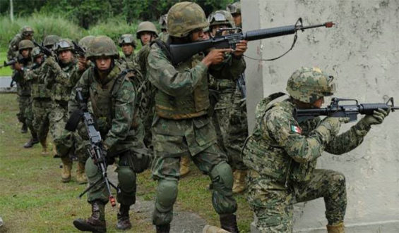 soldiers in mexico