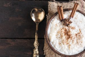 Arroz con leche can be made quickly with leftover rice, but many swear using freshly cooked rice makes it come out much better.