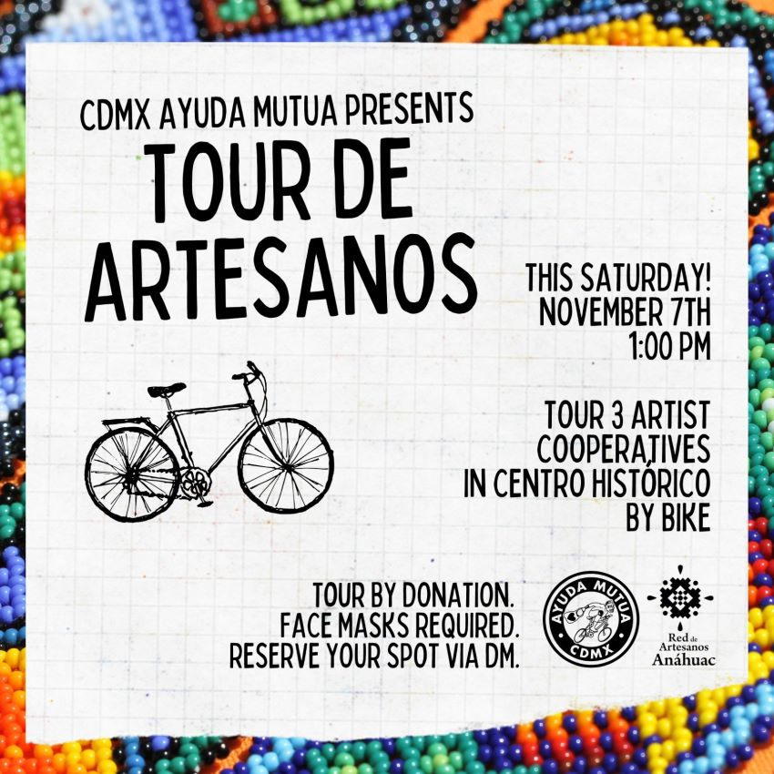 The Tour de Artesanos will visit three artisan cooperatives. Advance online reservations are required.