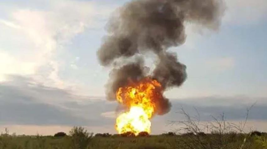 The explosion's cause is unknown, but the section of pipeline has frequently experienced gas theft.