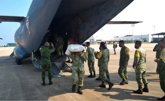 Aid for flood victims arrived from Germany this week.