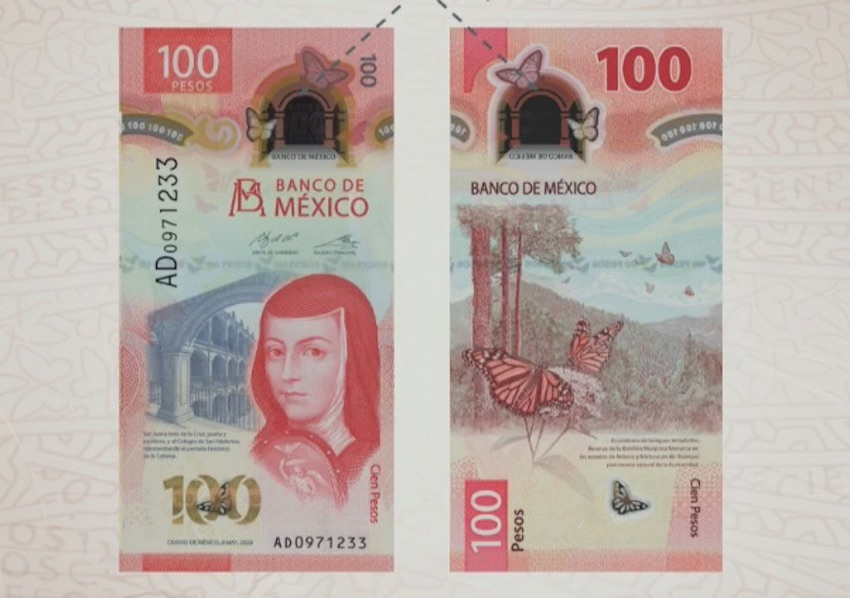 new 100-peso banknote.
