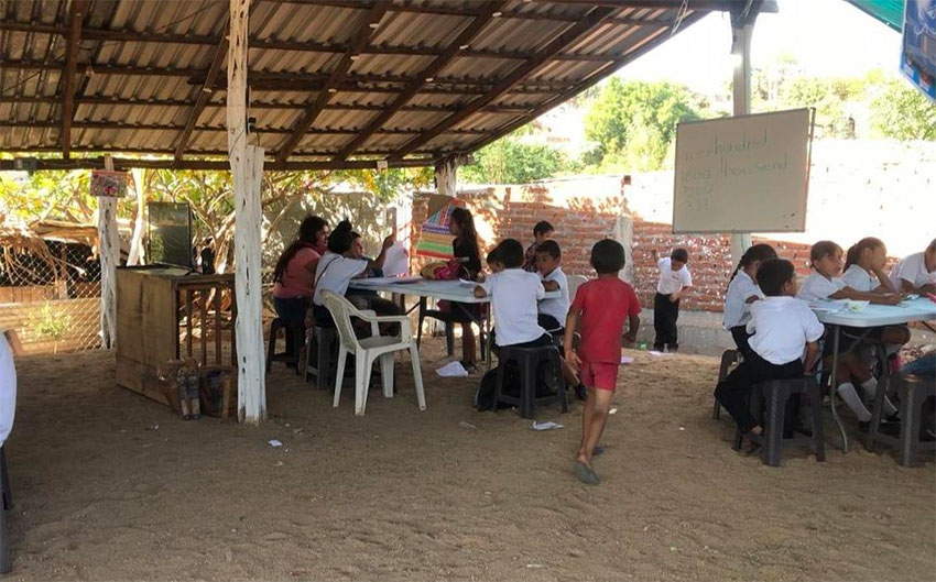 The cartel-supported school in Culiacán.