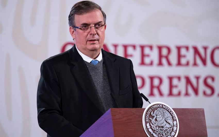 Marcelo Ebrard announces trials plans at the president's press conference.