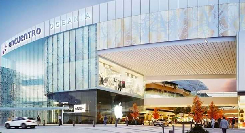 A rendering of the Encuentro Oceania shopping center in Mexico City.